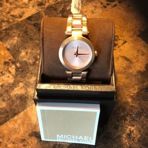 Michael Kors Delray Rose Gold Bracelet Watch MK351